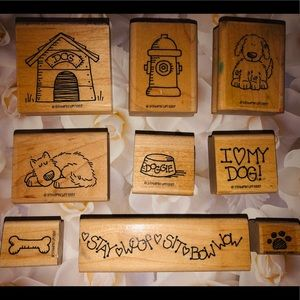 Dog Rubber Stamps, 9, Stampin' Up 1997